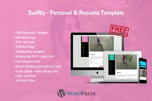 Swiftly - Personal Wordpress Theme