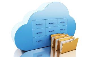 3d File storage in cloud. Cloud comp