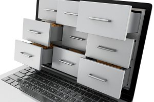 3d Files and folders in laptop