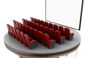 3d Cinema movie theater.