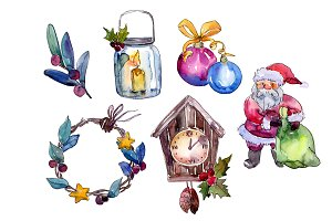 Christmas collection elements PNG