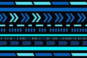HUD pattern strips. Abstract digital