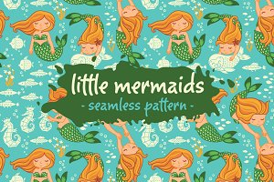 Little mermaids pattern