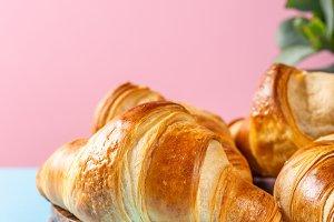 Freshly baked croissants