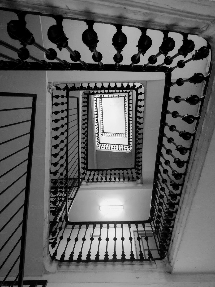 Beautiful black and white stairs architecture photos creative market