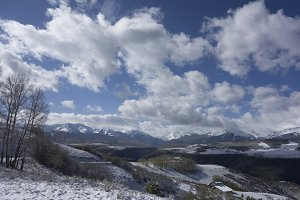 Clouds over Colorado Mountains