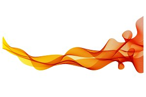 Abstract orange color wave design
