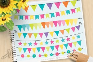 70% OFF - Rainbow Bunting + SVG