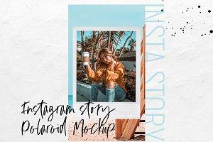 Instagram Story Polaroid Mockup