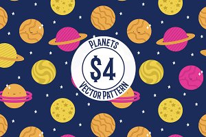 Planets Repeat Vector Pattern