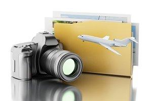 3d Photo camera with folder. Photo a
