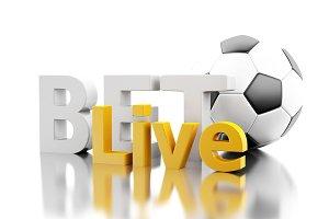 3d Bet live with a soccer ball. Bett