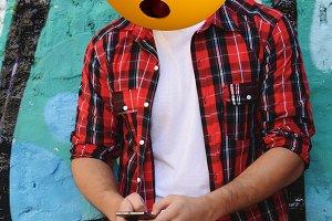 emoji head man