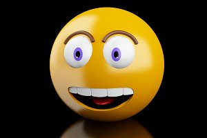 3d Emoji icons with facial expressio