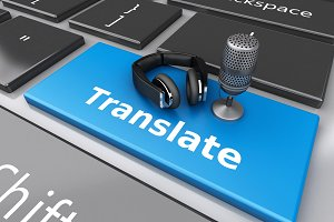 3d Word translate with mic and headp