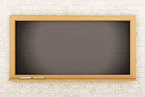 3D Empty blackboard. Education conce