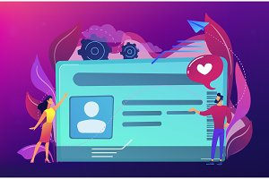 Smart ID card concept vector