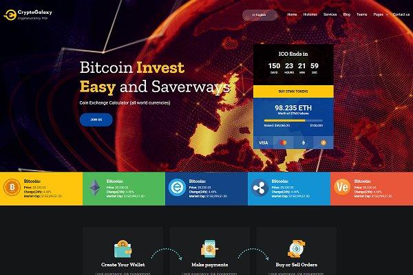 Cryptogalaxy - Bitcoin WP Theme