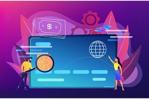 Plastic money concept vector