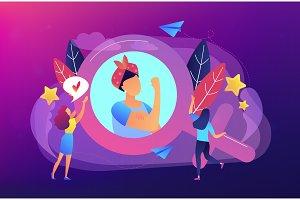 Feminism concept vector illustration