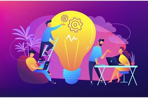 Coworking concept vector