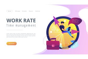 Time management concept vector