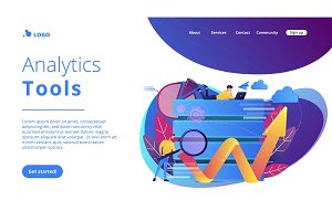 Big data tools concept vector