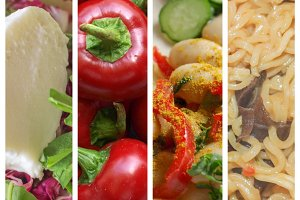 Food set collage
