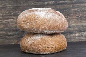 fresh round rye bread