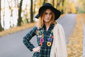 Stylish hippie girl