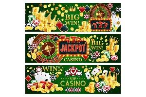 Jackpot online casino banners