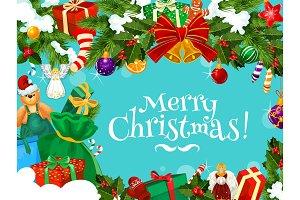 Christmas greetings garland frame