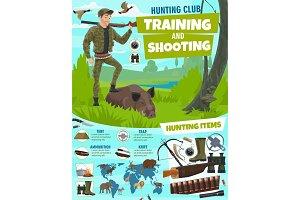 Hunting sport club poster