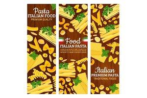 Italian pasta banners
