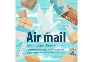 Air delivery pigeon, letters parsels