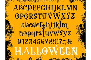 Halloween cartoon type vector font