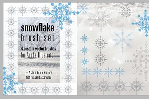 Snowflake Brush Set