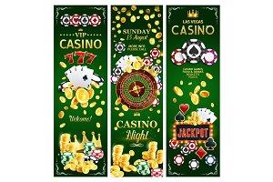 Casino online gambling banners