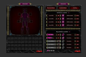 RPG Gaming User Interface