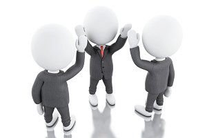 3d White business people. teamwork c