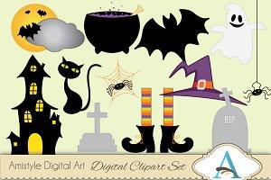 Halloween themed Clipart Set