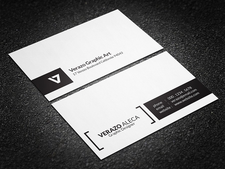 simple minimal business card business card templates creative market. Black Bedroom Furniture Sets. Home Design Ideas