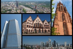 Frankfurt landmarks set