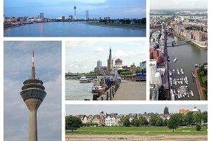Duesseldorf landmarks set