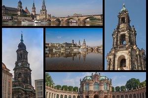 Dresden landmarks set
