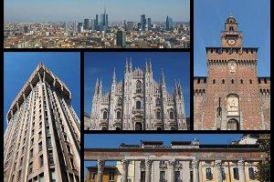 Milan landmarks set