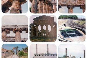 Pompeii landmarks set