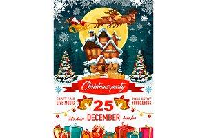 Santa Claus and house
