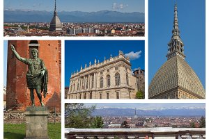 Turin landmarks set