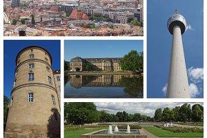 Stuttgard landmarks set